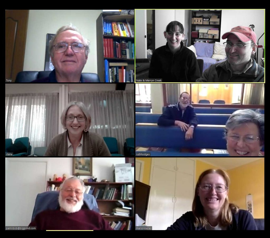 Today we hosted our first church meeting via zoom
